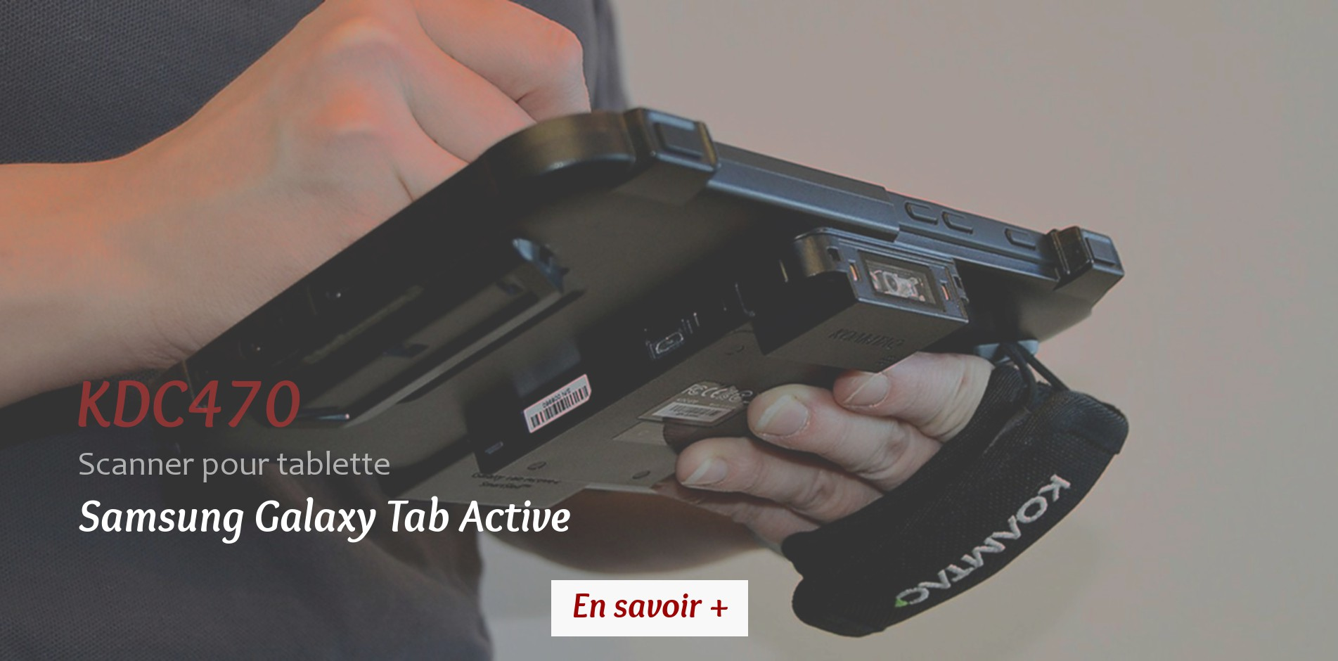 KDC470 POUR GALAXY TAB ACTIVE 2 scanner code barres RFID